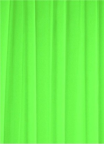 Neon Green Sheer Dress Fabric