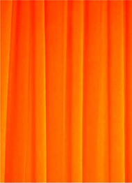 Neon Orange Sheer Dress Fabric