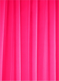 Neon Pink Sheer Dress Fabric