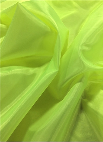 Neon Yellow Poly China Silk Lining Fabric Bridal Fabric