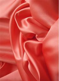 Fiesta Coral Duchess Satin Fabric