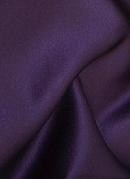 Eggplant Duchess Satin Fabric