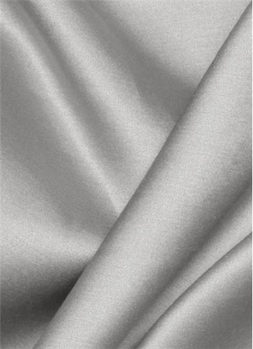 Silver Duchess Satin Fabric
