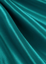 Teal Crepe Back Satin Fabric