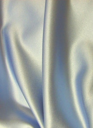 Silver Crepe Back Satin Fabric