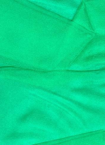 Emerald Sparkle Organza Fabric