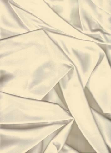 Ivory French Satin Fabric