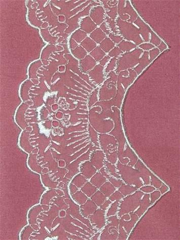PSS1 White Shiffli Lace Trim