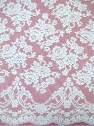 Alencon Lace AL90182 White