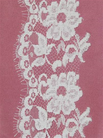 PB148636 White Alencon Lace Trim
