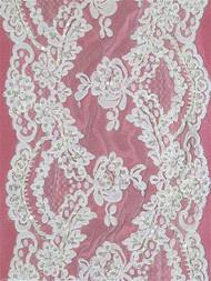 P2109WB White Alencon Lace