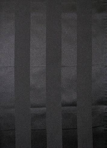 Black Satin  Stripe