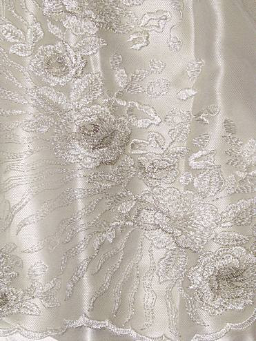 Ivory embroidered lace