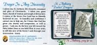 """St. Anthony """"Pocket Prayers"""" & Relic"""