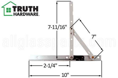 Casement Window Hinge Truth Hardware 14 77 10 Inch Track