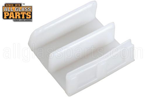 Sliding Shower Door Bottom Guide (White) (1-1/2'' Length)