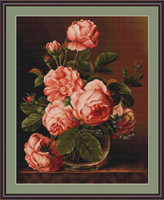 Vase Of Roses Petit Cross Stitch Kit By Luca S