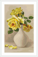 Yellow Roses Petit Cross Stitch Kit By Luca S