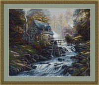Mill Stream Petit Cross Stitch Kit By Luca S