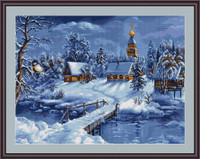 Winter Landscape Petit Cross Stitch Kit By Luca S