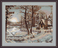 Winter Landscape I Petit Cross Stitch Kit By Luca S