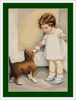 Girl With Dog Petit Cross Stitch Kit By Luca S