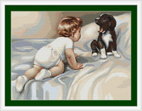 Boy With Dog Petit Cross Stitch Kit By Luca S