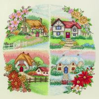 Seasonal Cottages Cross Stitch Kit By Anchor