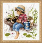 Let's Go Fishing Cross Stitch Kit by Riolis