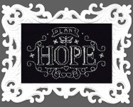 Plant Hope Chalkboard Cross Stitch Kit by Design works