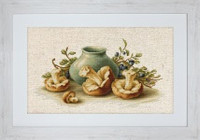 Still Life with Mushrooms Cross Stitch Kit by Luca-S