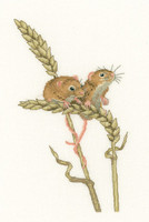Harvesy Mice Cross Stitch Kit by Heritage