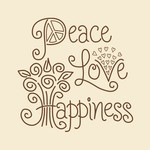 Peace, Love, Happiness Embroidery Kit by Janlynn
