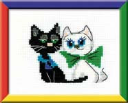 Happy Pair Cross Stitch Kit by Happy Bee
