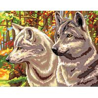 Autumn Wolves Tapestry Canvas By Royal Paris
