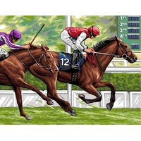 The Race Tapestry Canvas By Royal Paris