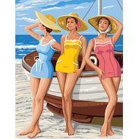 Beach Girls Tapestry Canvas By Royal Paris