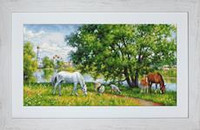 Pastoral Scene Petit Point Petit Cross Stitch Kit by Luca-S