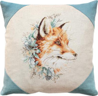 Fox Portrait Pillow Cross Stitch Kit by Luca-S