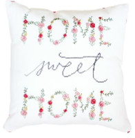 Home Sweet Home Pillow Cross Stitch Kit by Luca-S
