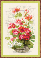 Geranium Cross Stitch Kit by Riolis