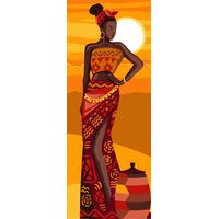African Beauty Tapestry Canvas By Royal Paris