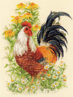 Rooster Cross Stitch Kit by Riolis