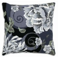 Floral Swirl in Black Tapestry Kit By Anchor