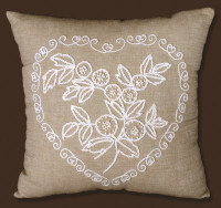 Heart Candlewick Pillow Needlepoint Kit