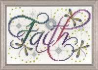 Faith Cross Stitch Kit by Design Works