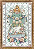Seashell Angel Cross Stitch Kit by Design Works