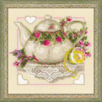 Tea with Lemon Cross Stitch Kit by Riolis
