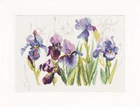 Irises Cross Stitch Kit By Lanarte