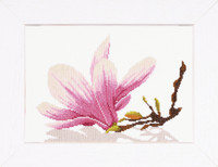 Twig with flowers Cross Stitch Kit by Lanarte
